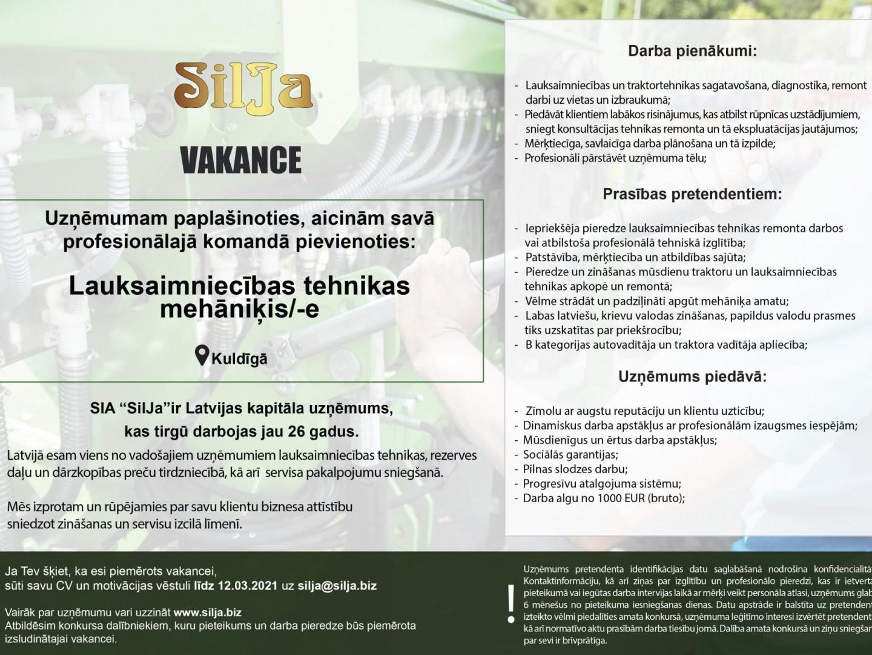 Silja Vakance Tehnikas pārdevējs Kuldiga (1)